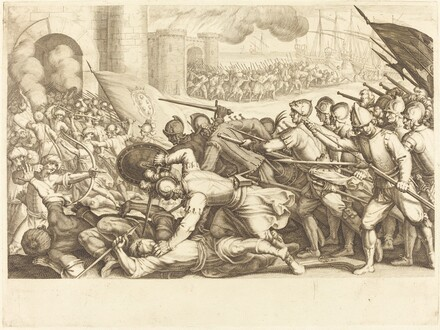 The Troops Forcing the Gate of a Town