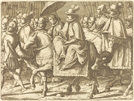 Margaret of Austria on Horseback