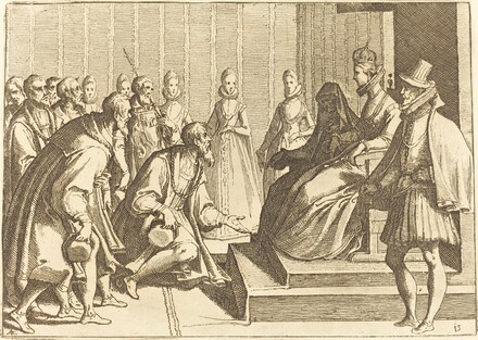 Margaret of Austria Giving Audience to a Nobleman
