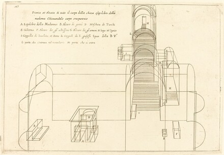 Plan and Elevation of the Church of the Madonna's Sepulchre