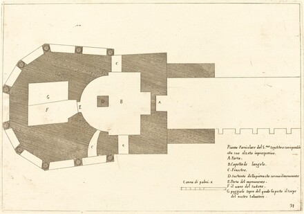 Plan of the Church of the Holy Sepulchre
