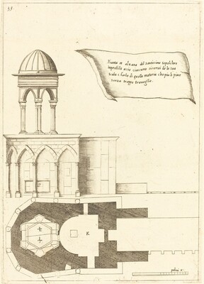 Plan and Elevation of the Church of the Holy Sepulchre