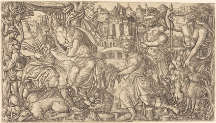 A King and Diana Receiving Huntsmen