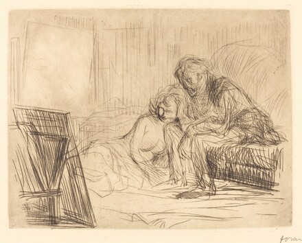 The Model's Rest (first plate)