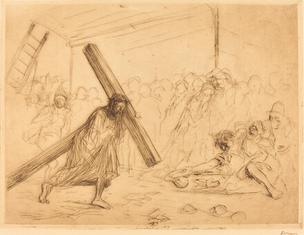 Christ Carrying the Cross (fourth plate)