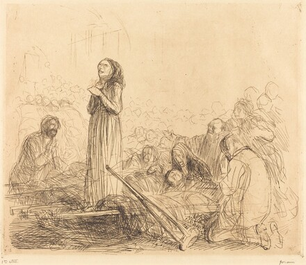 Lourdes, the Miracle (first plate)