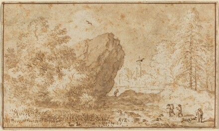 Landscape with Large Rock