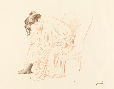 Seated Woman with Her Head Resting on Her Right Hand