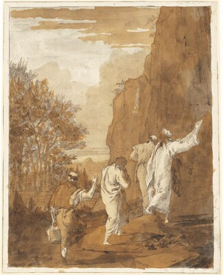 Christ Leading Peter, James, and John to the High Mountain for the Transfiguration