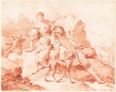 A Shepherd Family Resting