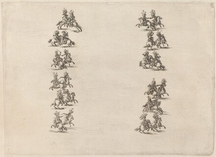 Cavaliers Fighting in Two Columns