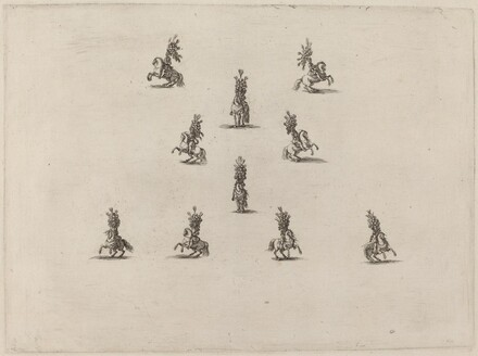 Ten Cavaliers with Large Plumed Helmets