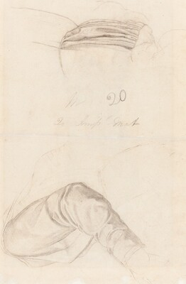 Two Drapery Studies [verso]