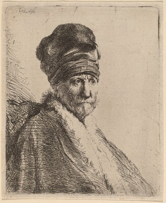 Bust of a Man Wearing a High Cap, Three-Quarters Right (The Artist's Father?)