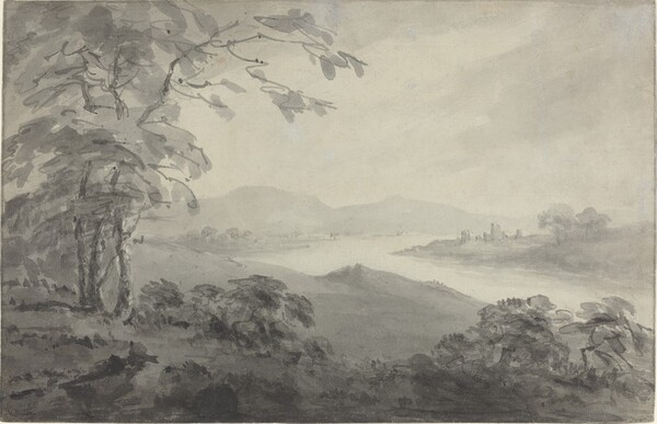 River Landscape with Ruins