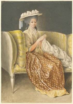 Portrait of a Lady Sewing