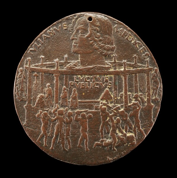 The Murder of Giuliano I de' Medici (The Pazzi Consiracy Medal) [reverse]