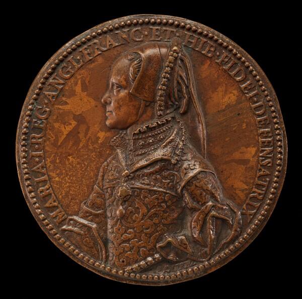 Mary Tudor, 1516-1558, Queen of England 1552 [obverse]
