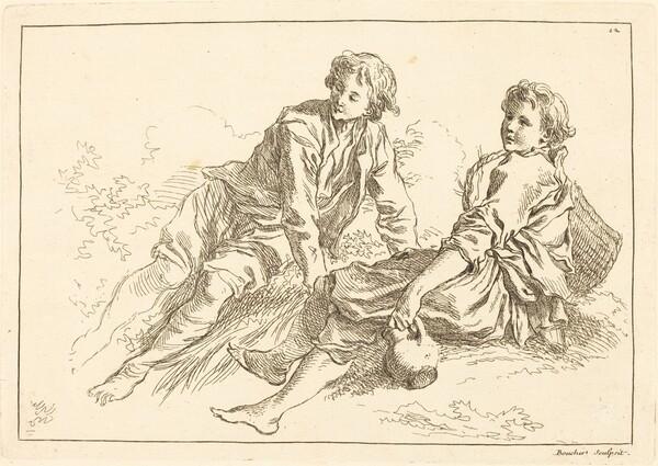 Reclining Shepherd Boys