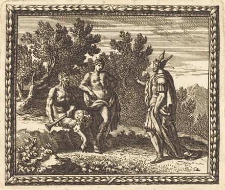 Midas with Apollo and Pan