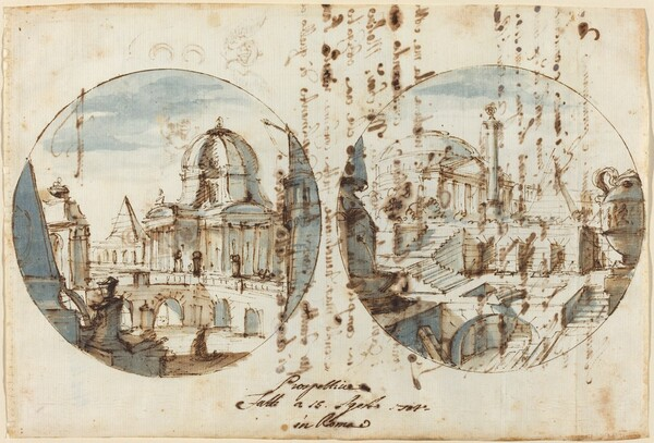 Architectural Fantasies with Temples and Pyramids