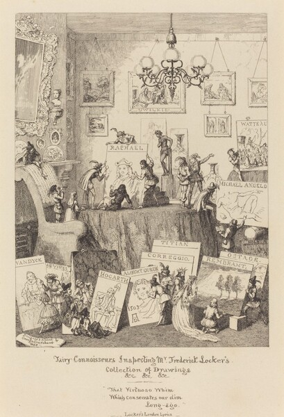 Fairy Connoisseurs Inspecting Mr. Frederick Locker's Collection of Drawings