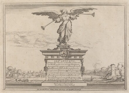Dedication Page with Statue of Fama