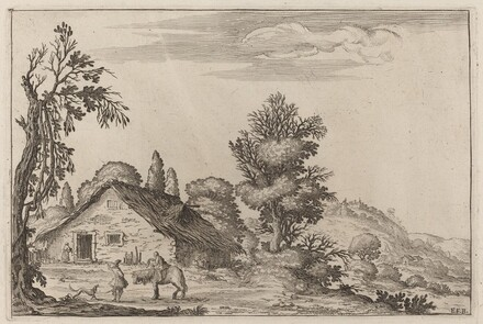 Landscape with a Traveler before a Cottage