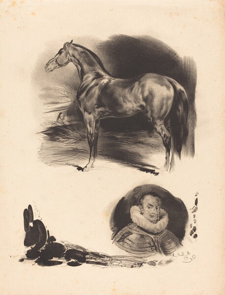 Sketches of a Horse and a Nobleman