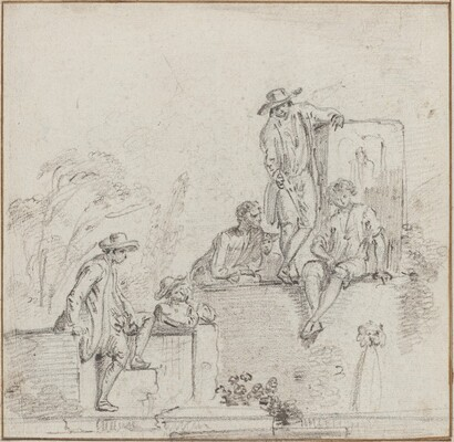 Figures Seated Around a Fountain