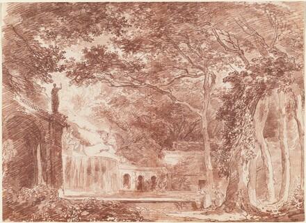 The Oval Fountain in the Gardens of the Villa d'Este, Tivoli