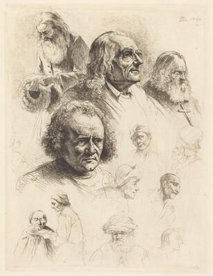 Thirteen Studies of Heads