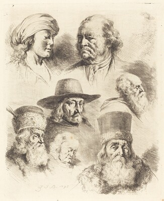 Seven Studies of Heads