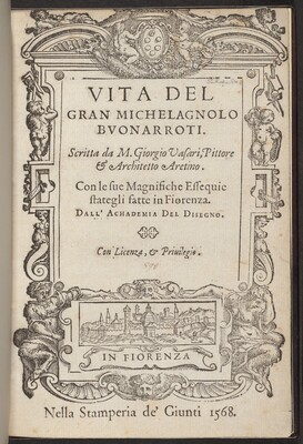 Vita de' gran Michelagnolo Buonarroti