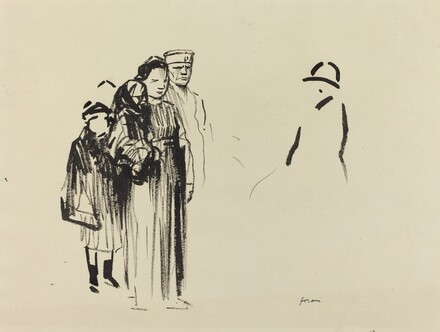 Woman and Two Children with German Soldiers