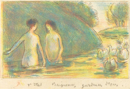 Baigneuses, gardeuses d'oies (Bathers Tending Geese)
