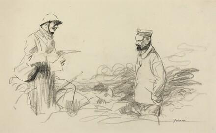 Poilu Acknowledging German Soldier