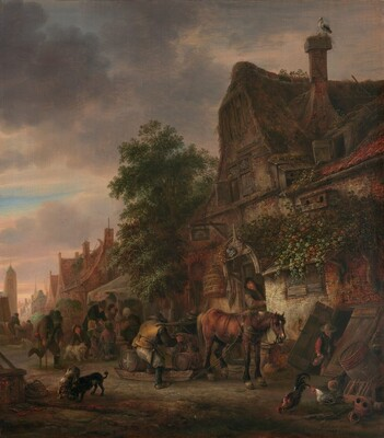 Workmen before an Inn