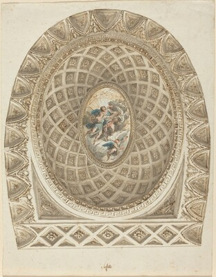 A Coffered Dome with Apollo and Phaeton