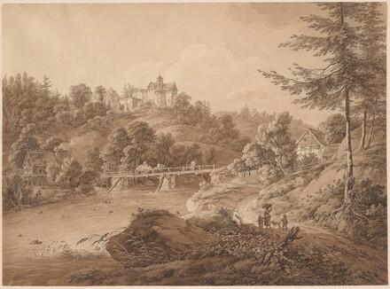 Rauenstein Castle Seen from the River's Edge