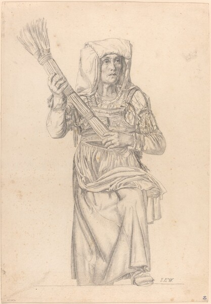 Italian Peasant Woman with a Broom