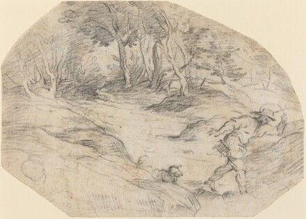 Landscape with a Man and a Dog