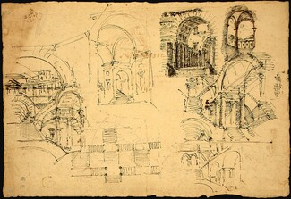 Designs for Palatial Arches [verso]