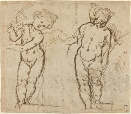 Two Standing Putti [recto]
