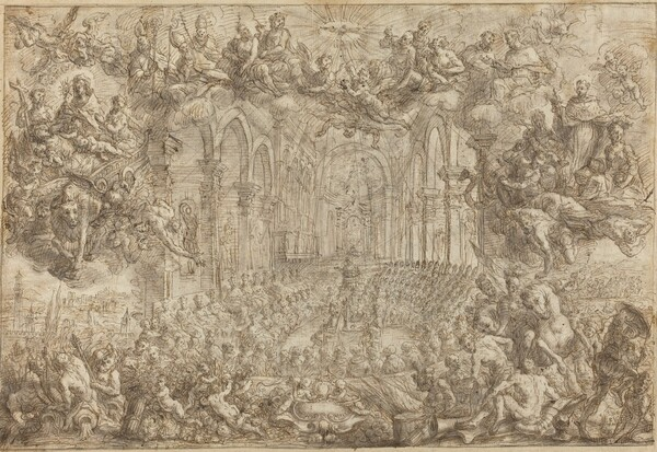 The Council of Trent with Saint Thomas Vanquishing the Heretics