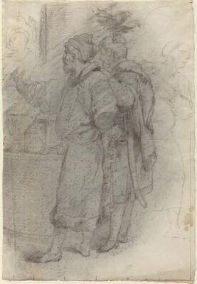 Two Standing Courtiers