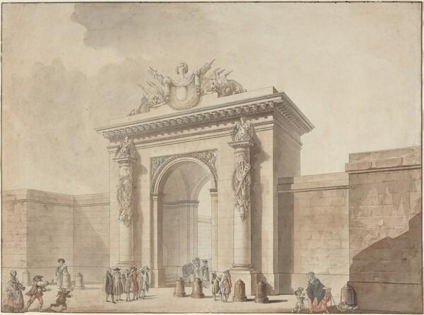 Portal of the Hôtel d'Uzès, rue Montmartre, Paris