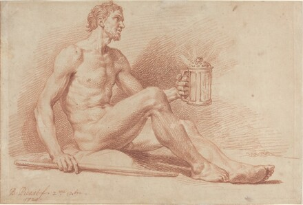 Male Nude with a Lamp (Diogenes)