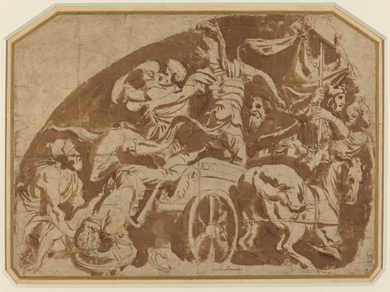 Flight of Meriones, with Dead Coeranos Being Dragged from the Chariot