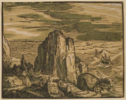 Cliff on a Seashore